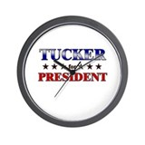 TUCKER for president Wall Clock
