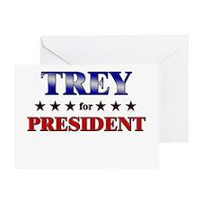 TREY for president Greeting Card