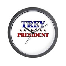 TREY for president Wall Clock