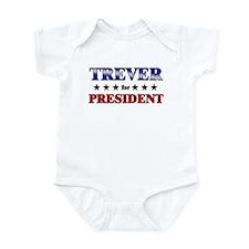 TREVER for president Infant Bodysuit