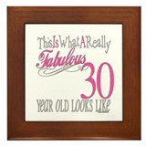 30th Birthday Gifts Framed Tile