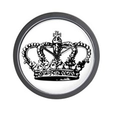Black Crown Wall Clock