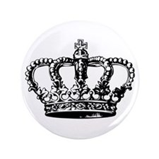 "Black Crown 3.5"" Button (100 pack)"