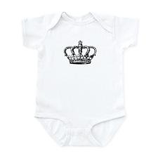 Black Crown Infant Bodysuit