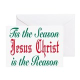 Tis the season jesus is the r Greeting Card