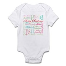 MERRY CHRISTMAS! (18 WORDS) Infant Bodysuit