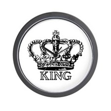 King Crown Wall Clock