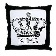 King Crown Throw Pillow