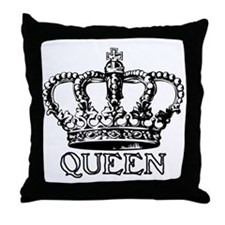Queen Crown Throw Pillow