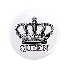 "Queen Crown 3.5"" Button"