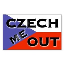 CZECH ME OUT Bumper Rectangle Decal