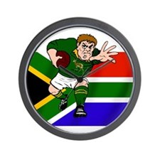 Rugby forward South Africa Wall Clock