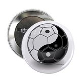 "Ying Yang Soccer Ball 2.25"" Button (10 pack)"