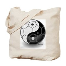 Ying Yang Soccer Ball Tote Bag