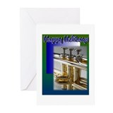 Happy Holidays Trumpet Greeting Cards (Pk of 10)
