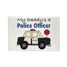 My Daddy's A Police Officer Rectangle Magnet (100