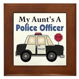 My Aunt's A Police Officer Framed Tile