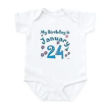 January 24th Birthday Infant Bodysuit