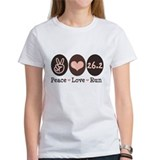 Peace Love Run 26.2 Marathon Tee