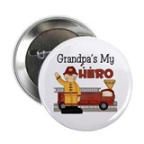 "Grandpas My Hero Firefighter 2.25"" Button (100 pac"