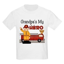 Grandpas My Hero Firefighter T-Shirt