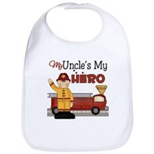 Uncles My Hero Firefighter Bib