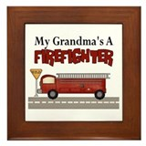 Grandmas A Firefighter Framed Tile