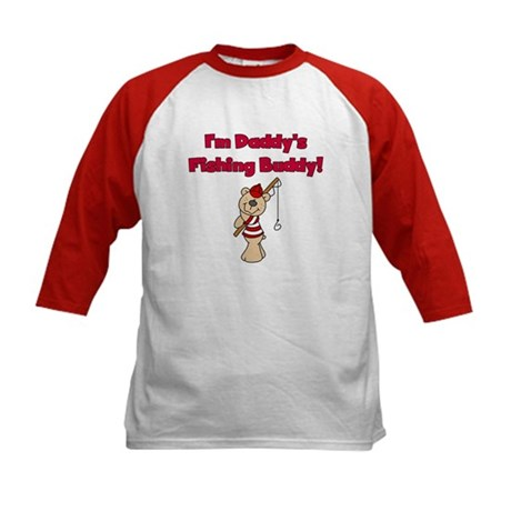 Bear Daddy's Fishing Buddy Kids Baseball Jersey