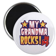 My Grandma Rocks Magnet