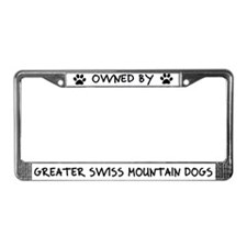 Owned Greater Swiss Mtn Dogs License Plate Frame