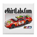 eShirtLabs.Com Stock Car Tile Coaster