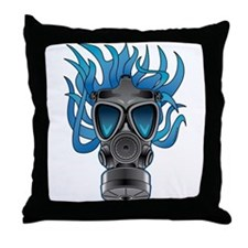 Gas Mask Blue @ eShirtLabs Throw Pillow
