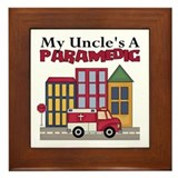 My Uncle's A Paramedic Framed Tile