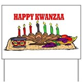 Happy Kwanzaa Yard Sign