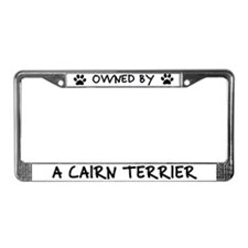 Owned by a Cairn Terrier License Plate Frame