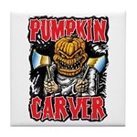 Pumpkin Carver @ eShirtLabs Tile Coaster