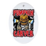 Pumpkin Carver @ eShirtLabs Oval Ornament