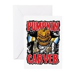 Pumpkin Carver @ eShirtLabs Greeting Cards (Pk of