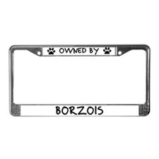 Owned by Borzois License Plate Frame
