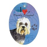 Dandie Dinmont Oval Ornament
