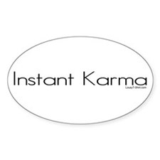 Instant Karma Oval Decal