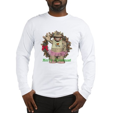 Heather Hippo Long Sleeve T-Shirt