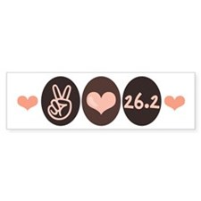 Peace Love Run 26.2 Marathon Bumper Bumper Sticker