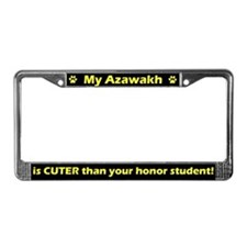 Honor Student Azawakh License Plate Frame