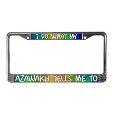Do what Azawakh License Plate Frame