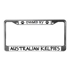 Owned by Australian Kelpies License Plate Frame