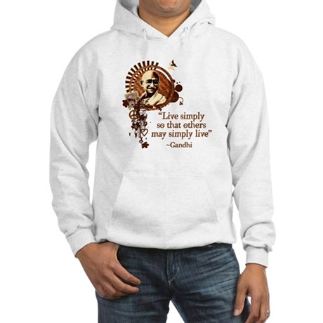 Funky Gandhi -Live simply... Hooded Sweatshirt
