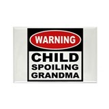 Child Spoiling Grandma Rectangle Magnet