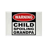 Child Spoiling Grandpa Rectangle Magnet