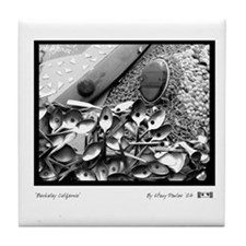 Berkeley CA Spoons B& W -  Tile Coaster